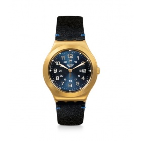 Swatch orologio Happy Joe Golden in pelle cassa gold - YWG408