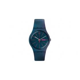Swatch orologio New Gentlaman silicone verde ottanio e fucsia - SUON708