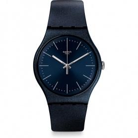 Swatch orologio Nightbayan silicone blu notte brillantinato - SUON136
