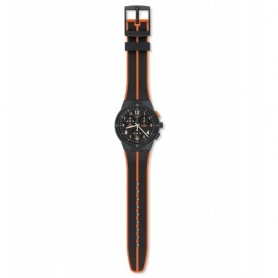 Swatch Uhr Laserai Chrono schwarz orange Silikon - SUSA402