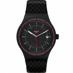 Swatch orologio Sistem Damier Sistem51 nero rosso - SUTB406