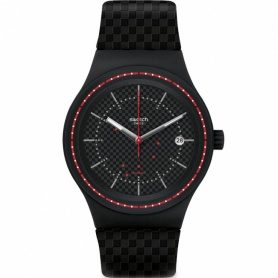 Swatch Watch Sistem Damier Sistem51 nero rosso - SUTB406