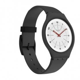 Swatch Watch Skinwheel Silicone Ultra-thin Black White - SVUM104