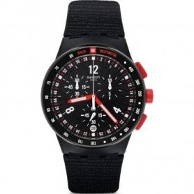 Swatch orologio Stand Hall cronografo  nero con pulsanti rossi - SUSB411