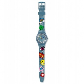 Swatch orologio Tacoon fantasia emoticon toppe - GS155