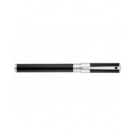 Dupont penna roller Initial RB Black & chromo argento - 262200