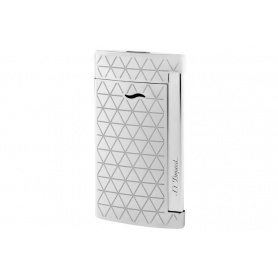 Dupont lighter line Slim7 silver color silver rhombus - 027716