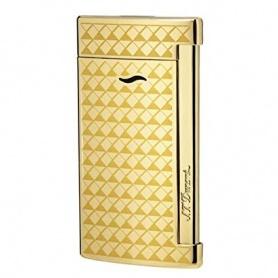 Dupont Feuerzeug Slim7 Linienfarbe Gold gelb vergoldet - 027715