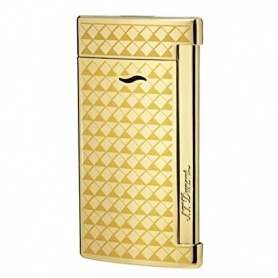 Dupont lighter Slim7 line color Gold yellow gold plated - 027715