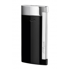 Dupont lighter line Slim7 black color with silver chrome - 027700