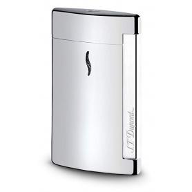 Dupont Lighter Minijet chromed silver smooth engraved logo - 010502