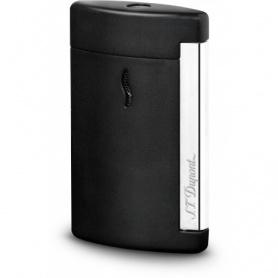 Dupont lighter Minijet chromed black mat engraved logo - 010503