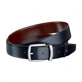 Cintura uomo Dupont pelle lucida nero e cognac doubleface - 8210153