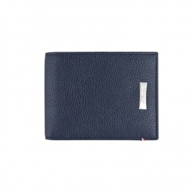 Herrenportemonnaie Dupont Kreditkartenetui aus dunkelblauem Leder - 180270