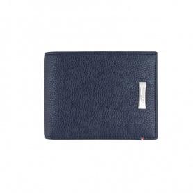 Portafoglio uomo Dupont porta carte di credito pelle blu scuro - 180270