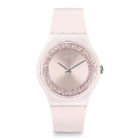 Pinksparkles pink swatch watch with white swarovski Swarovski - SUOP110