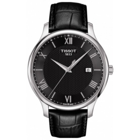 Tissot Tradition watch in black leather T0636101605800