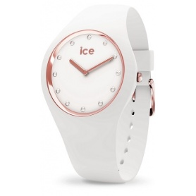Cosmos White Rose-Gold Ice Watch made of silicone