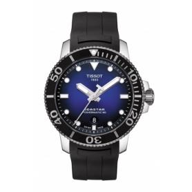 Tissot Seastar Powermatic blaue Gummiuhr T1204071704100