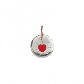 Micro moneta cuore rosso Queriot novità2019 -  F18A03XRD01