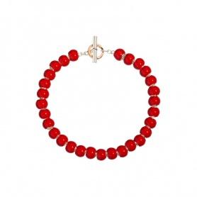 Queriot Valentinstag Armband Beeren der Liebe rot - S