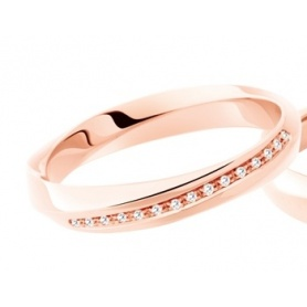 Polello Light Love ring in rose gold and diamonds 3118DR