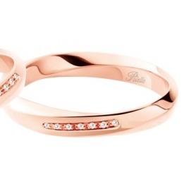 Fede Polello Luce d'amore in oro rosa e diamanti 3118UR