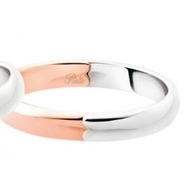 Fede Polello Segno d'amore in oro rosa e oro bianco