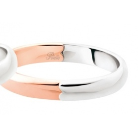 Polello Faith Sign of love in rose gold and white gold