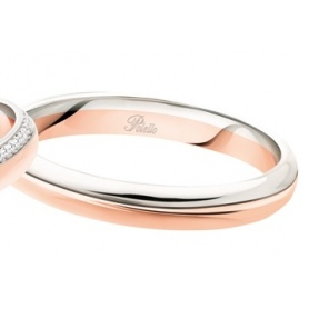 Fede Polello Sogno d'amore in oro rosa e oro bianco