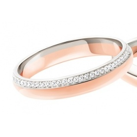 Fede Polello Sogno d'amore in oro rosa, bianco e diamanti