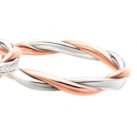 Faith Polello Plot Of Love in rose gold and white gold