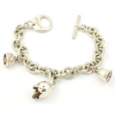 Chain bracelet with three Campanelle Civita by Queriot