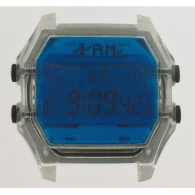 Orologio digitale I AM uomo blu e trasparente IAM108