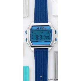 Orologio digitale I AM uomo blu e argento con cinturino blu