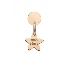 Queriot Mon Etoile earring in rose gold with star