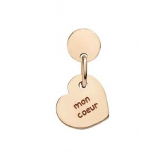 Queriot Mon Coeur earring in rose gold with heart