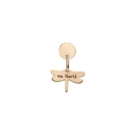 Queriot Ma Liberté-Ohrring aus Rotgold mit Libelle