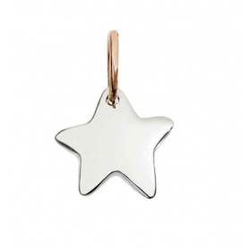 Queriot Stellina micro pendant in silver and rose gold