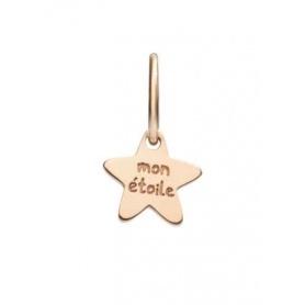 Micro ciondolo Queriot Mon Etoile stella in oro rosa