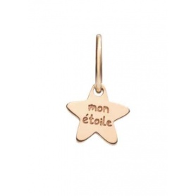 Micro Queriot Mon Etoile star pendant in rose gold