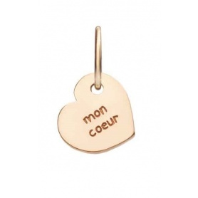 Micro Queriot Mon Coeur pendant in rose gold to heart