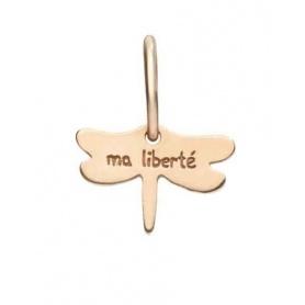 Micro ciondolo Queriot Ma Liberté  Libellula in oro rosa