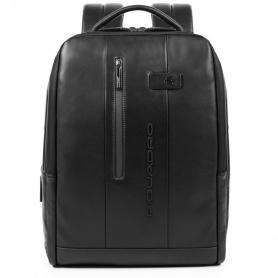 Piquadro Urban Rucksack-PC-Tasche mit schwarzem Diebstahlschutzkabel