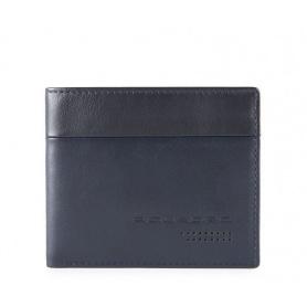 Piquadro Urban Herren Geldbörse mit blauem Dokumentenhalter