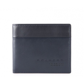 Piquadro Urban men's wallet with blue document holder
