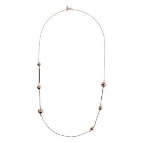 Bronzallure-Halskette Pallina golden rosè WSBZ01350