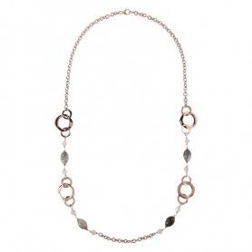 Bronzallure-Halskette mit Quarz - WSBZ00988