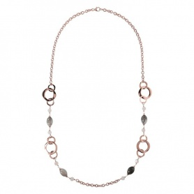 Bronzallure necklace with Quartz - WSBZ00988