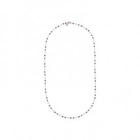 Mehrfarbige Amorette-Achat-Bronzallure-Halskette - WSBZ01256